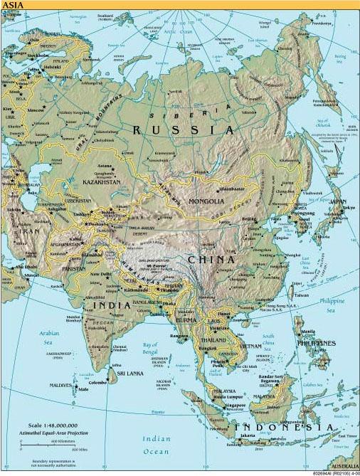 3d World Map Asia